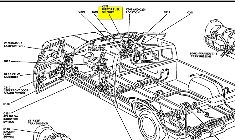 2003 F150 Front Brake Parts Diagram in addition 1985 Ford F 150 Engine Diagram furthermore Inertia Switch Location 84 F150 also Ford Inertia Switch Wiring Diagram in addition 2003 Polaris Ranger Parts Diagram. on 2001 f150 inertia switch