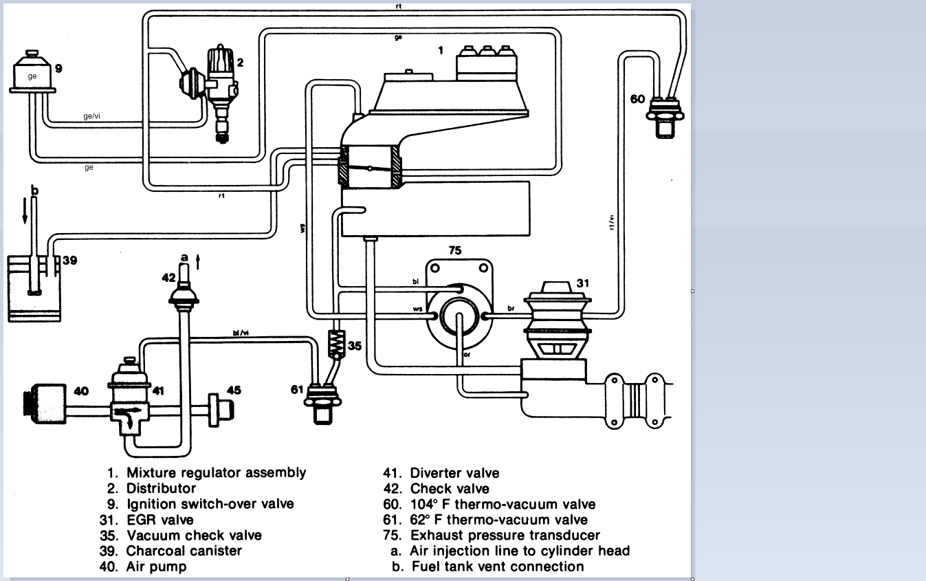 mercedes 450slc i desperately need a vacuum diagram for