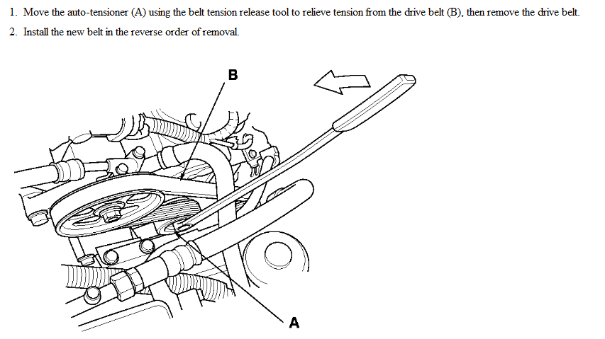service manual  how to change alternator on a 2012 acura