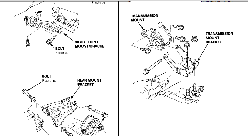 is 1 6 honda civic motor mount bracket made on or bolted