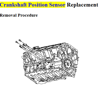 What Must Be Removed To Replace The Crankshaft Position