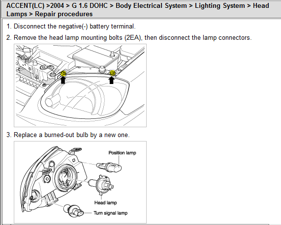 2007 hyundai accent radio wiring diagram 2004 hyundai accent headlight wiring diagram i need instructions on how to replace the entire headlight ...