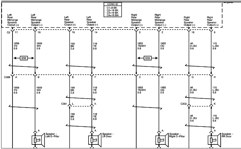 Schematics And Diagrams  2007 Chevrolet Tahoe Z71  Radio Amplifier And Sound System Speakers