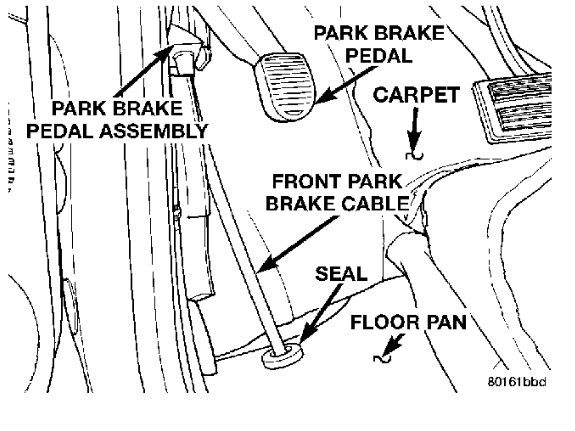 i broke the parking brake cable  need to know how to