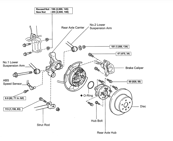 Car Bearings Diagram : Lexus wheel hub diagram free engine image for user
