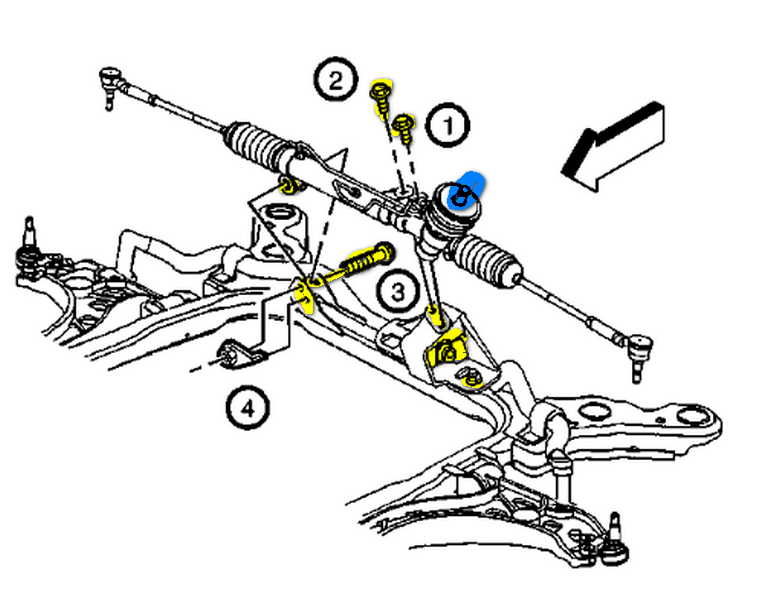 chevy rack and pinion diagram speedway motors power rack pinion