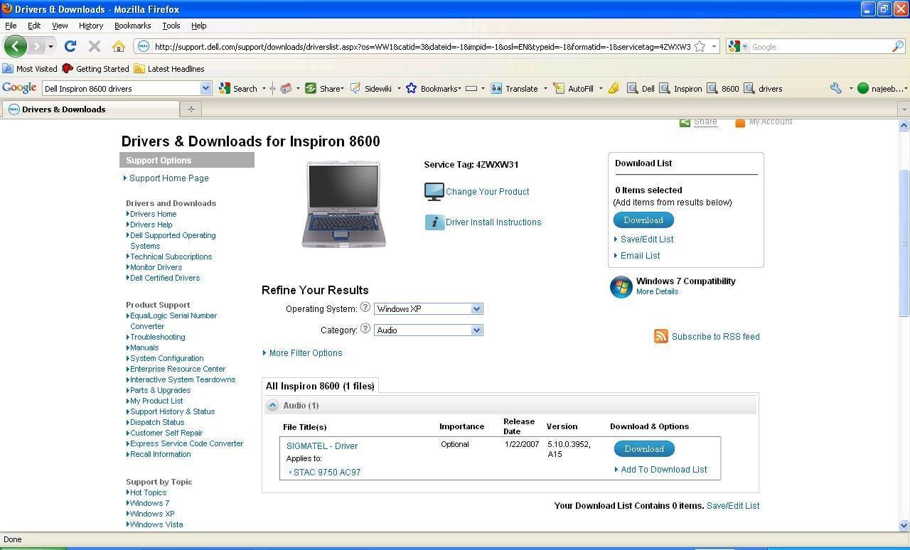 dell inspiron n7110 скачать драйвера 32 bit