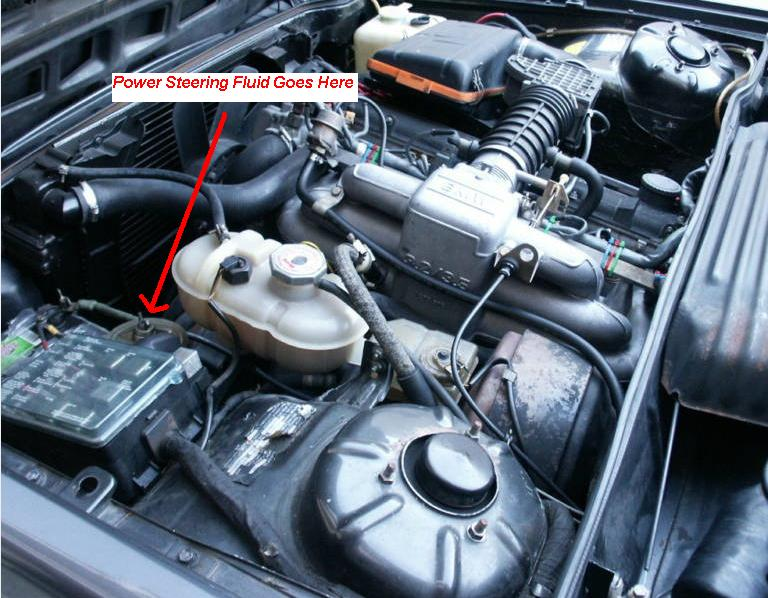 where is the power steering fluid fill point on a 1982 bmw. Cars Review. Best American Auto & Cars Review