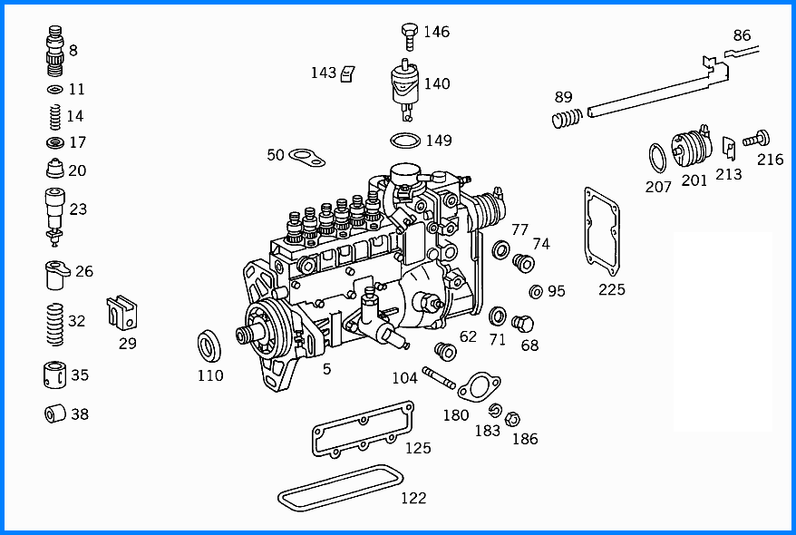 yanmar diesel injector pump diagram
