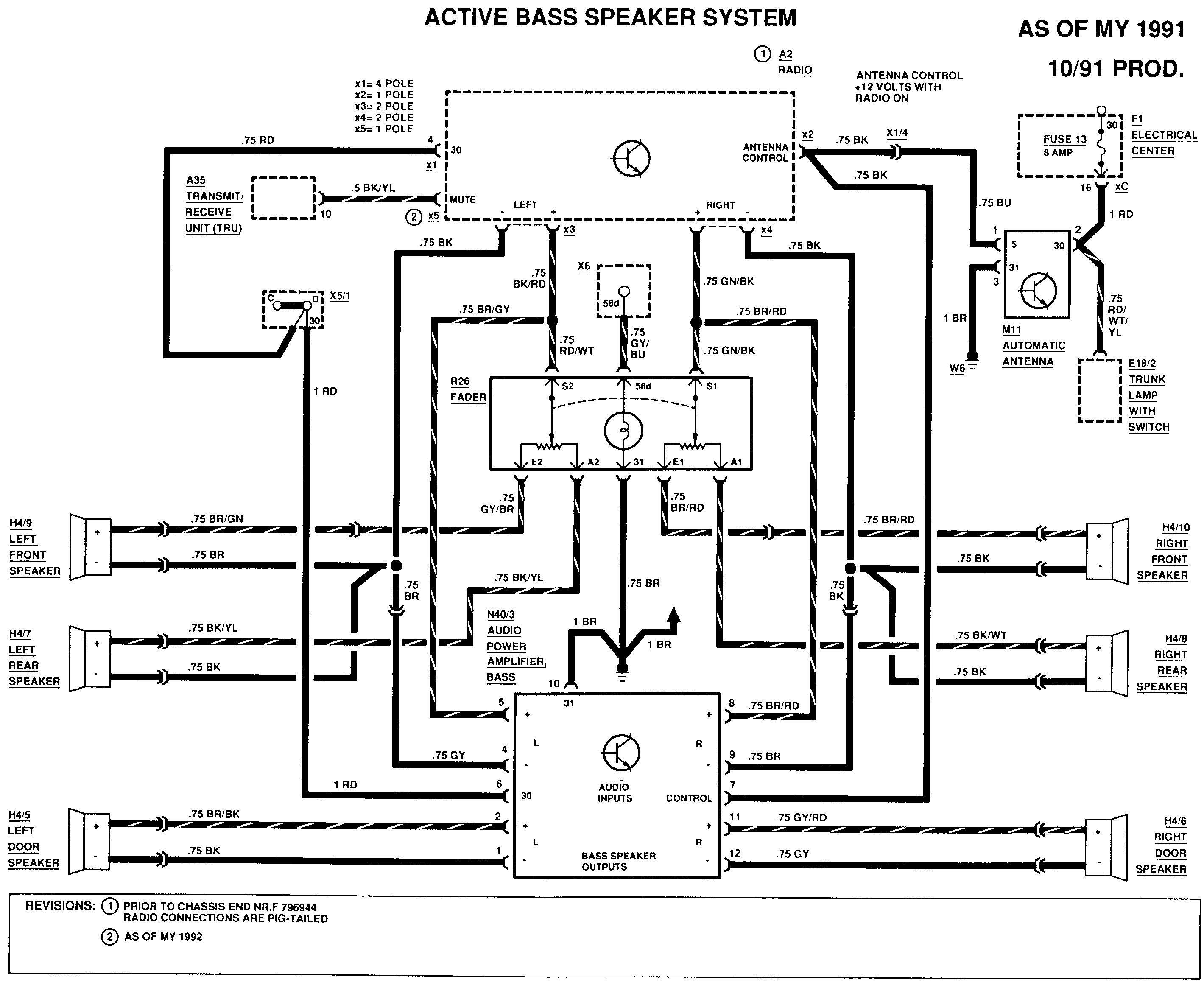 6 speaker amp diagnosis mercedes benz forum rh benzworld org Mercedes-Benz Radio Wiring Diagram for 2013 1990 Mercedes 300E Wiring-Diagram