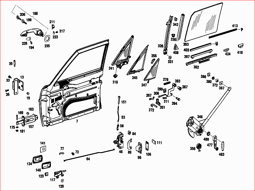 how to remove ext door handles from mercedes benz 1970 280se