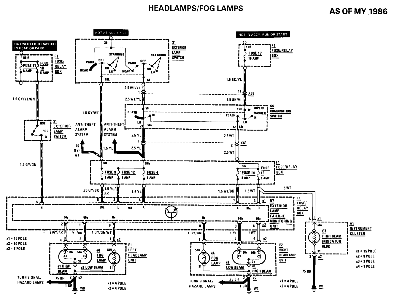 4n5a0 Mercedes Benz 420sel 1991 420sel Headlight Wont on mercedes sl500 fuse box diagram
