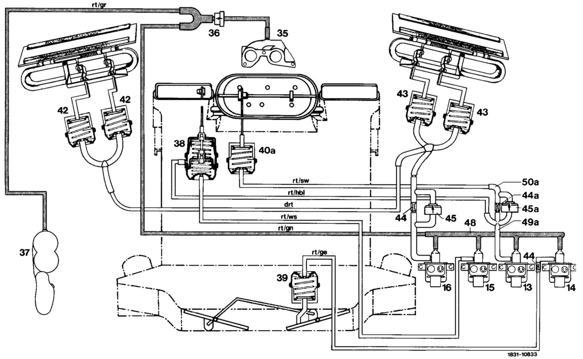 Vacuum Line Diagram Mercedes 380sl