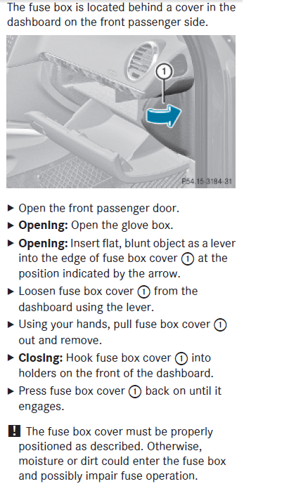 how to open fuse box inside ml 350 mb 2010. Black Bedroom Furniture Sets. Home Design Ideas