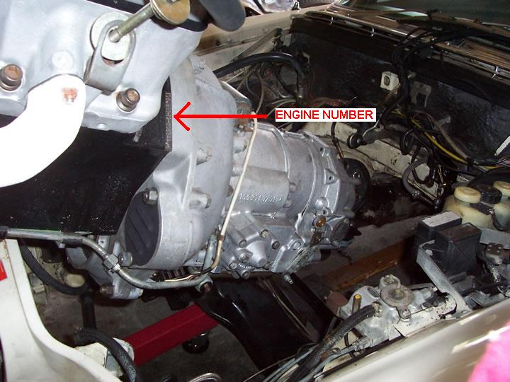 Where can i find the engine number on an m100 i want for Mercedes benz engine number check