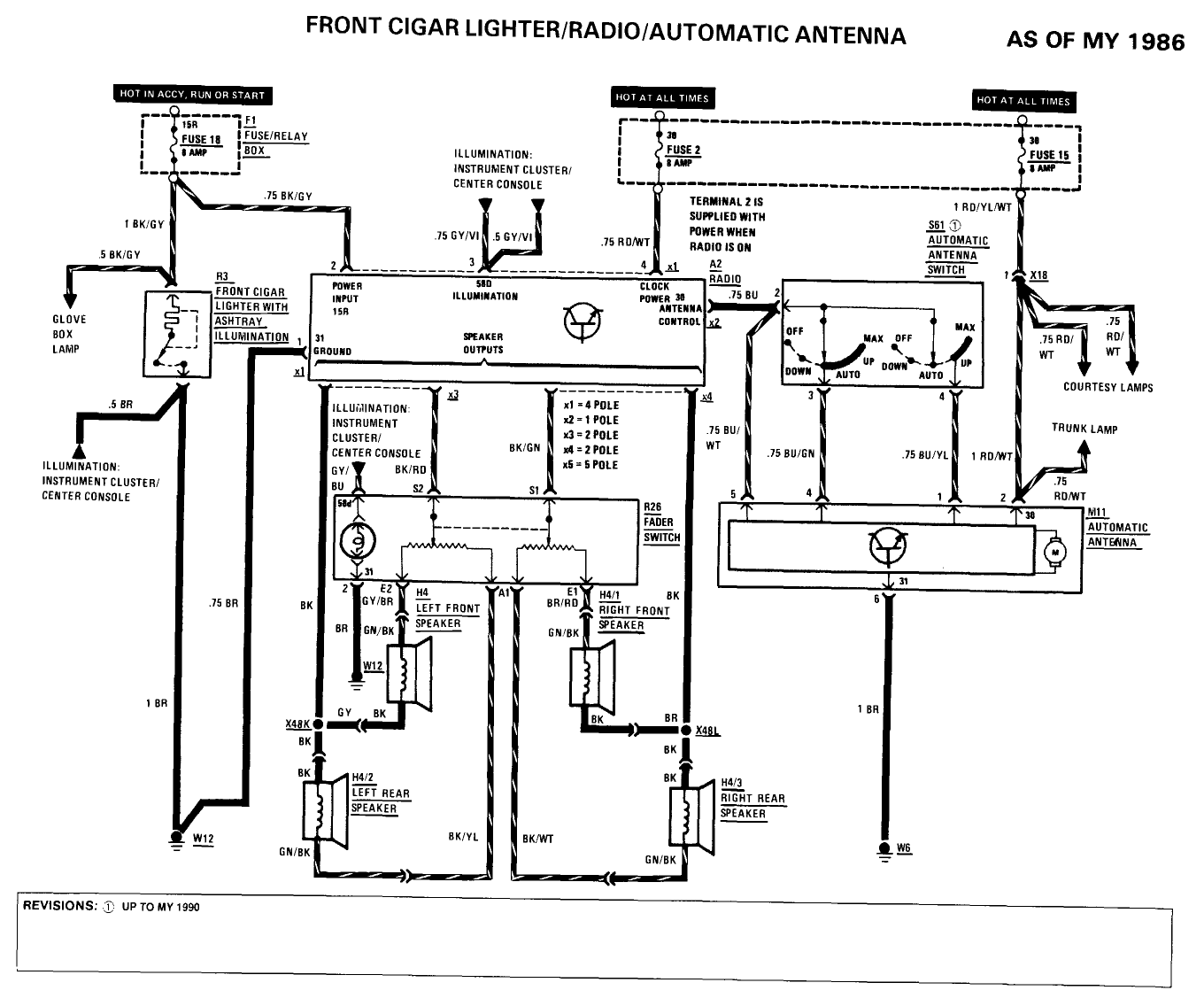 ml radio wiring diagram bose