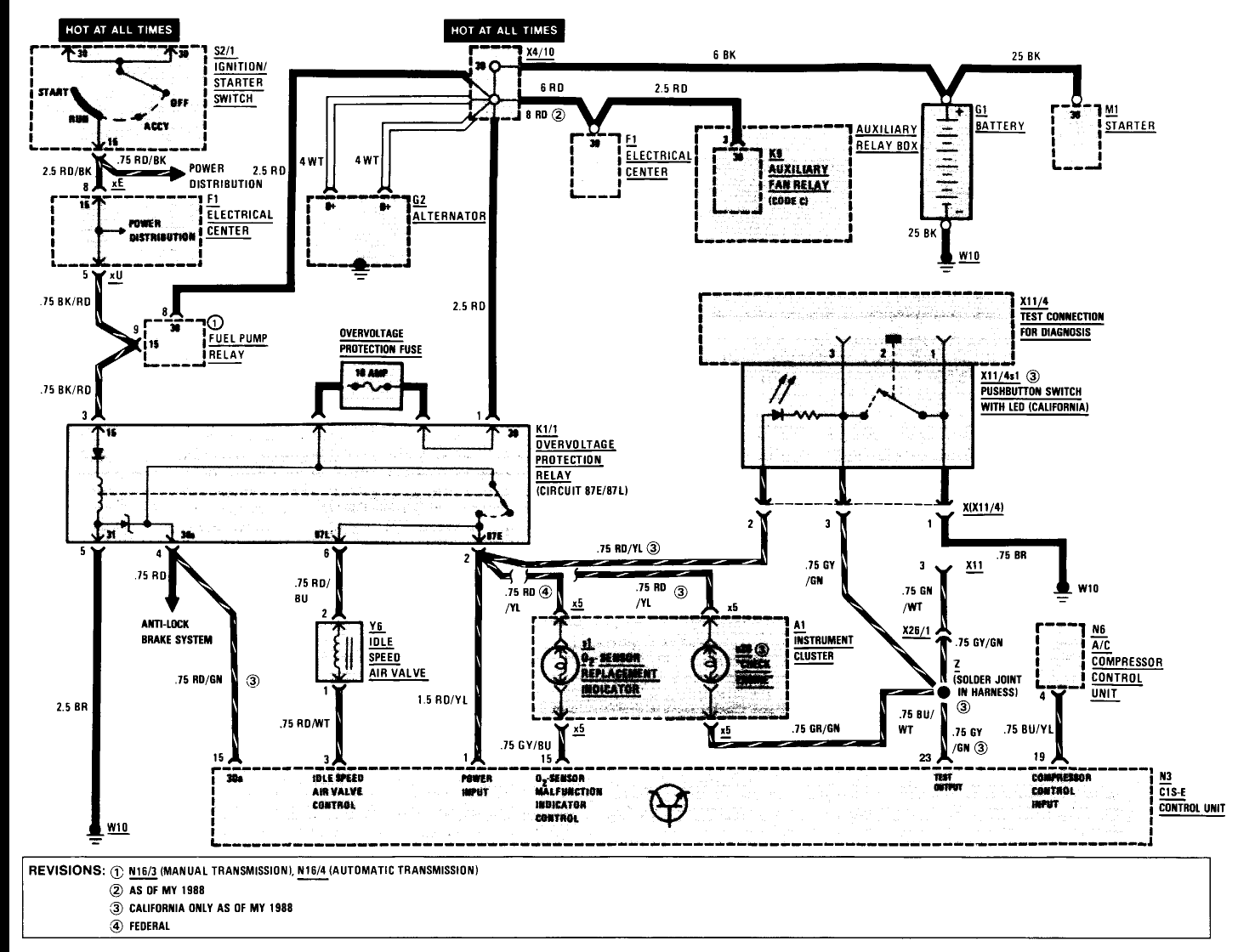 W201 Ac Wiring Diagram And Schematics Abs Mercedes Trusted Diagrams Source Question On 1987 190e Cold Start Low Idle Stalls If You Try To Drive
