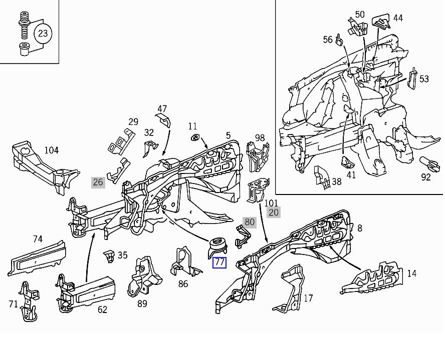 mercedes benz 380sl front suspension diagrams  mercedes