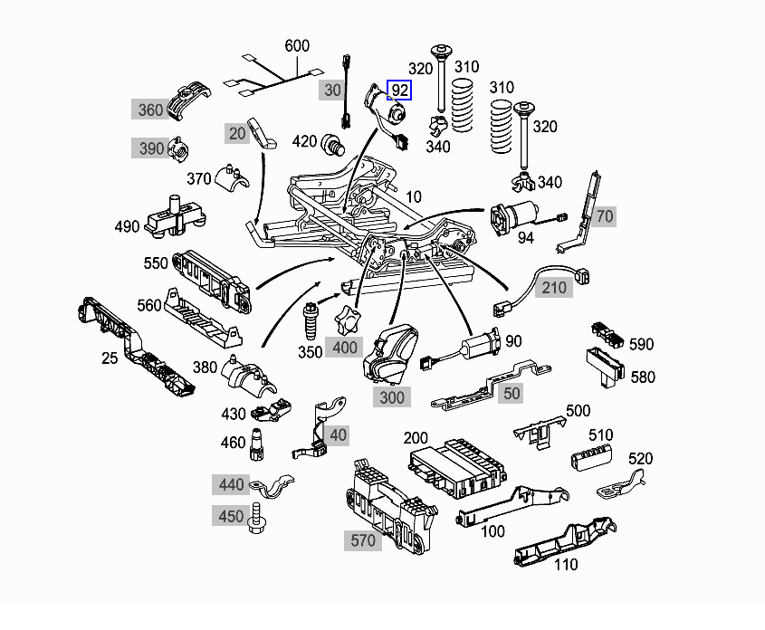 2003 Mercedes S430 Engine Parts Diagram on mercedes sl500 fuse box diagram