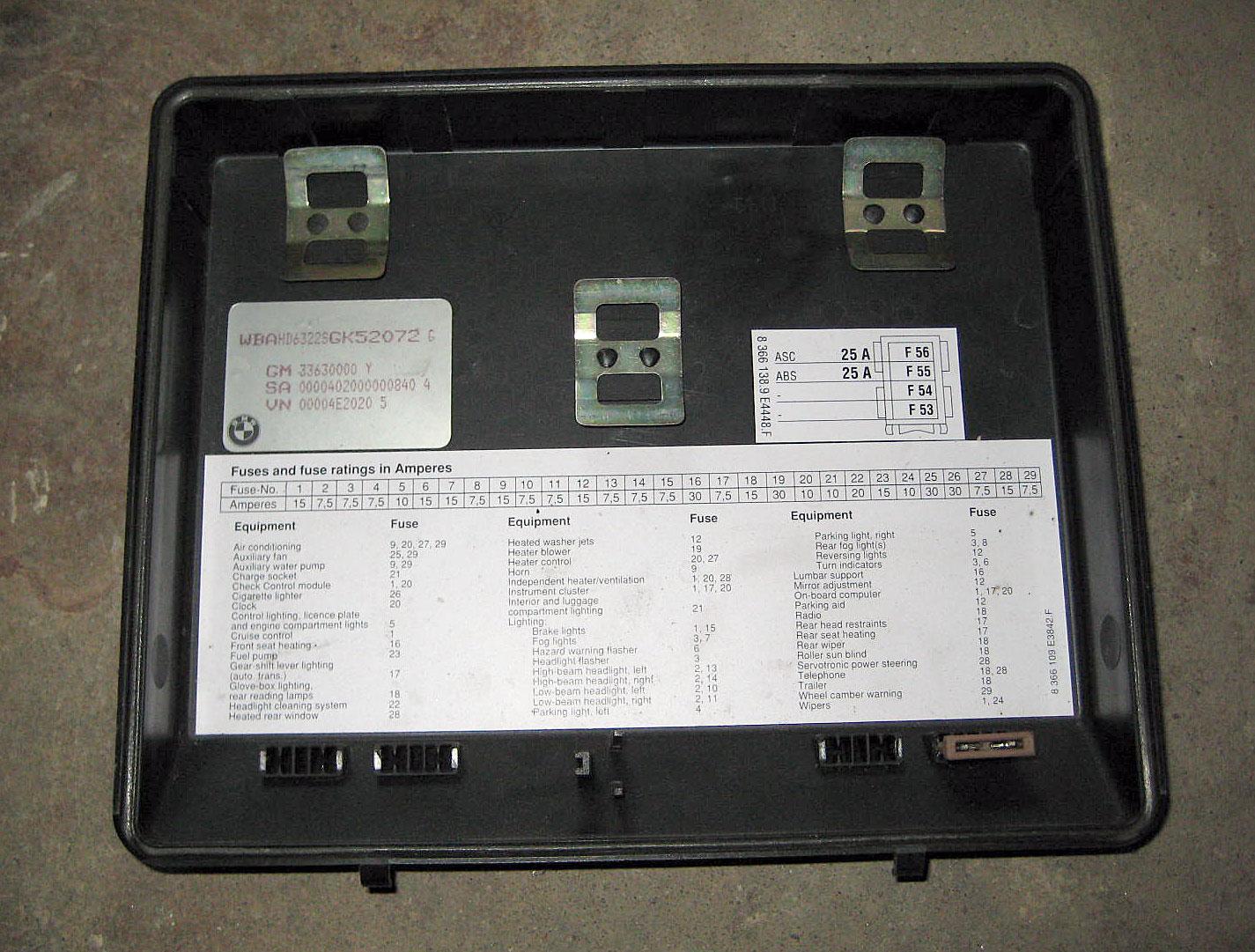 2001 Bmw 525i Fuse Box Location I Forums Similiar 1990 Dodge Caravan Diagram Il Image Wiring 1995 E34 Printable Database