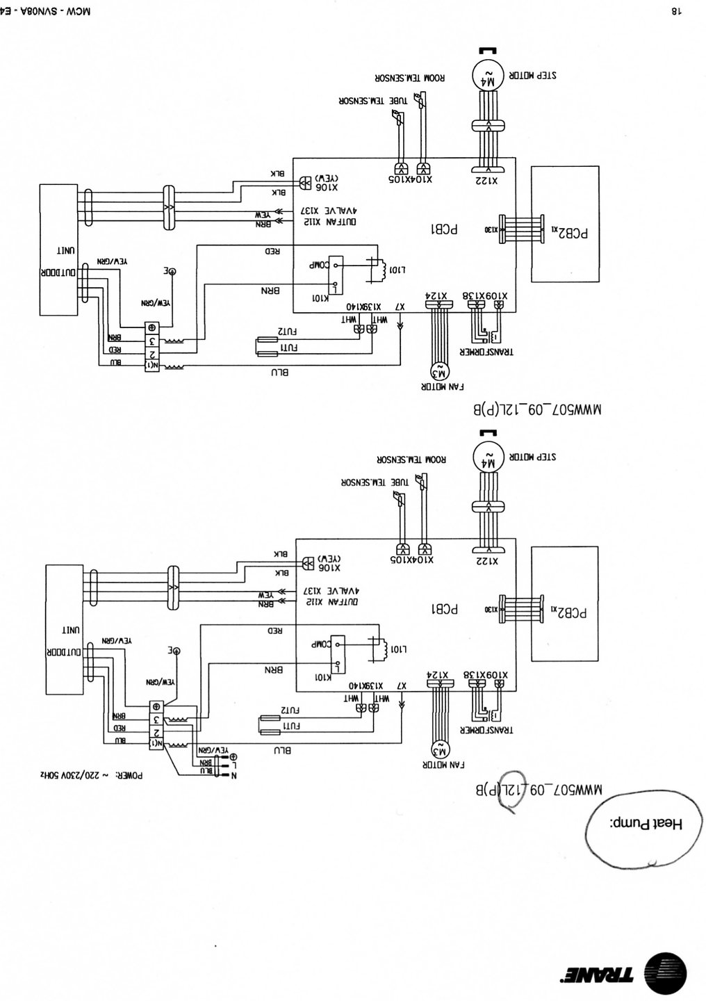 trane air handler wiring diagram solidfonts carrier condenser wiring diagram schematics and diagrams trane xe 900 air conditioner