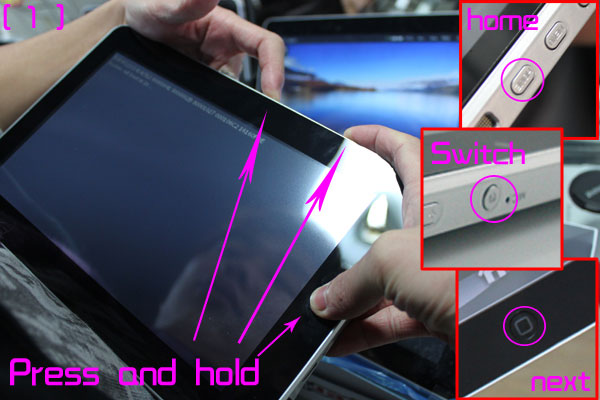 Reset android tablet epad