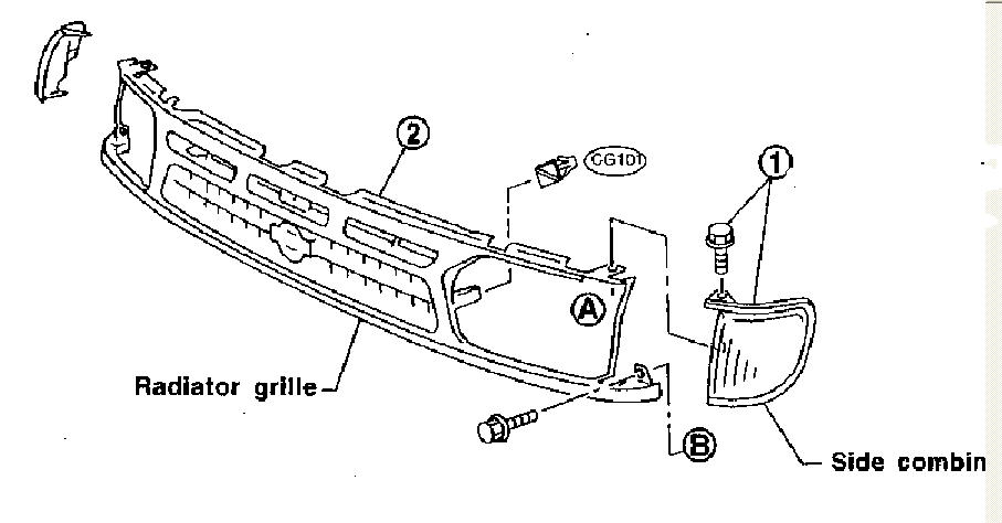 1996 dodge ram 2500 rear bumper diagram