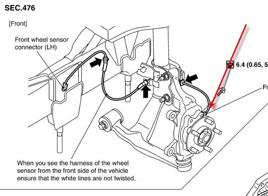 chevy silverado rear abs sensor location