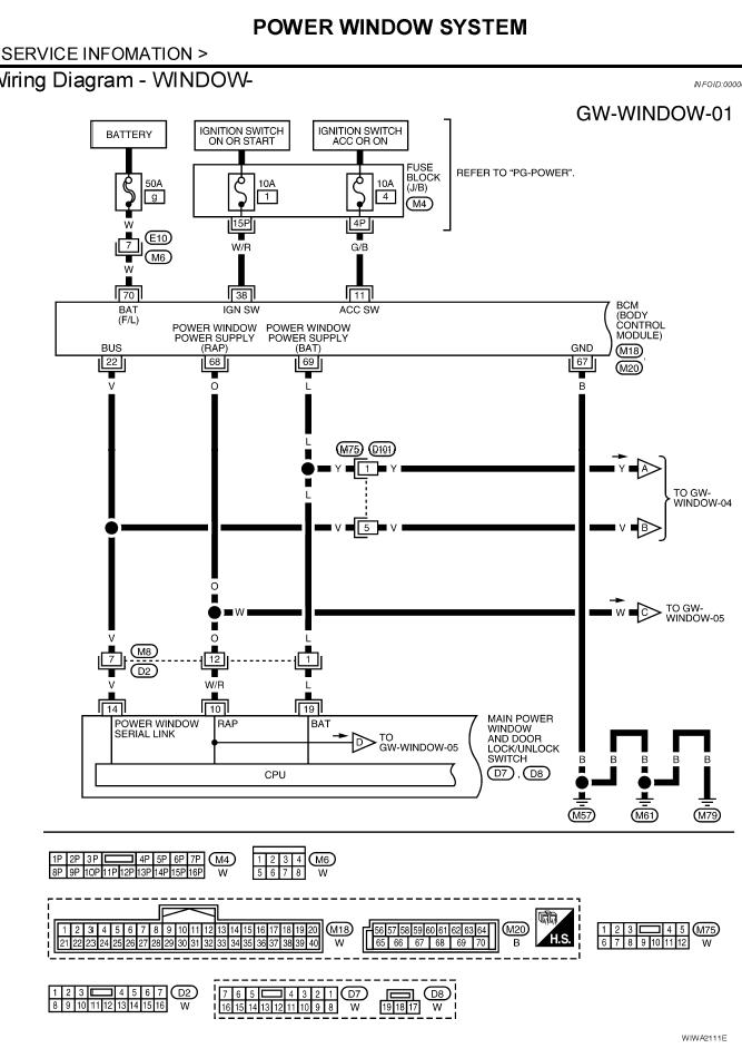 Path Power Window Diagram on Power Window Switch Wiring Diagram