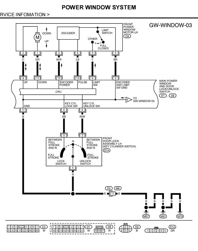 Nissan Power Window Wiring Diagram : I have an nissan pathfinder ve having problems with