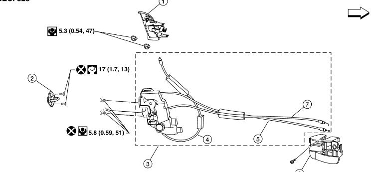 2006 ford mustang trunk latch diagram  2006  free engine