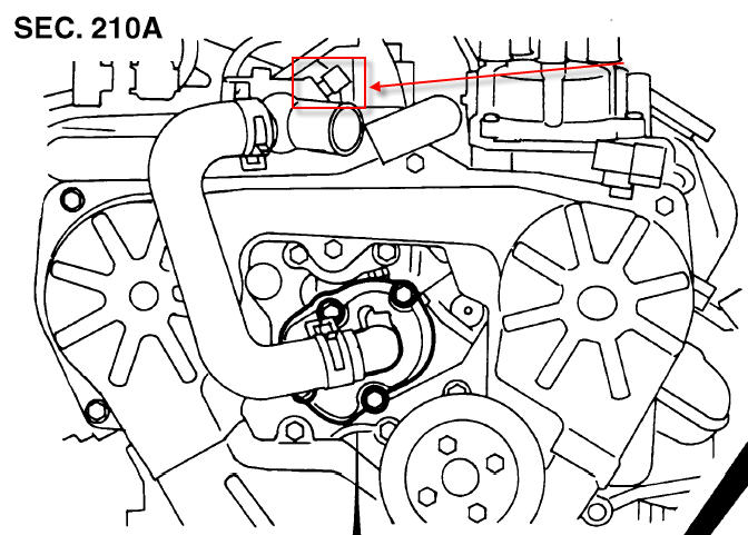 nissan sentra fuel temperature sensor location