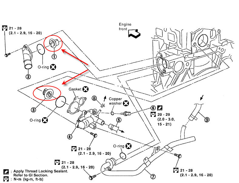 coolant system diagram 2001 honda civic engine parts html