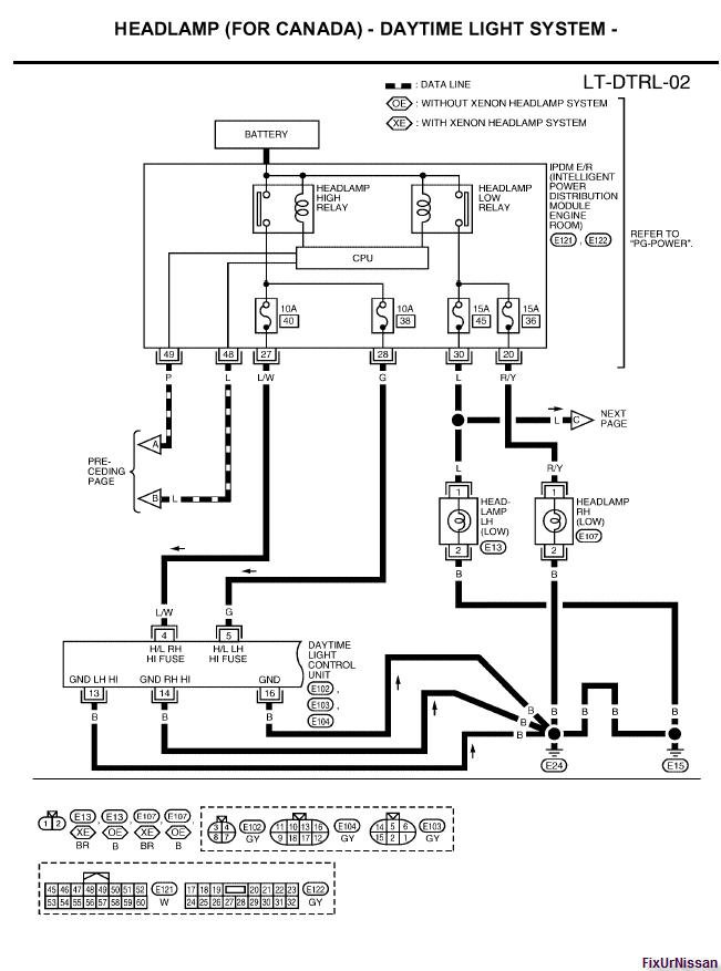 2009 12 25_163238_05_Altima_Head_light_wiring_Diagram_with_DTRL_2 2002 nissan sentra headlight wiring diagram efcaviation com 2006 nissan altima wiring diagram at nearapp.co