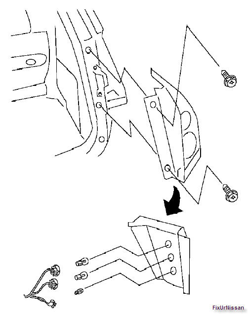 2007 nissan quest  right rear brake light does not work