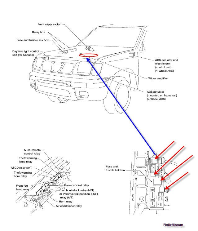 2010 Nissan Frontier Fuse Box 2010 Wiring Diagrams Projects – 2000 Nissan Frontier Wiring Diagram