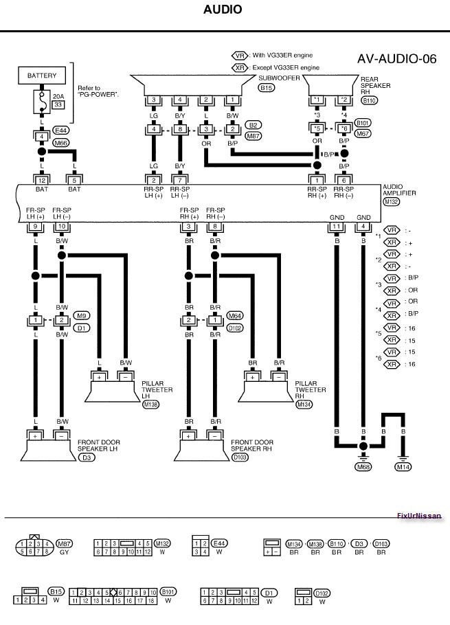 need an audio wiring diagram for a 2003 nissan xterra here is the wiring diagram you requested graphic graphic graphic