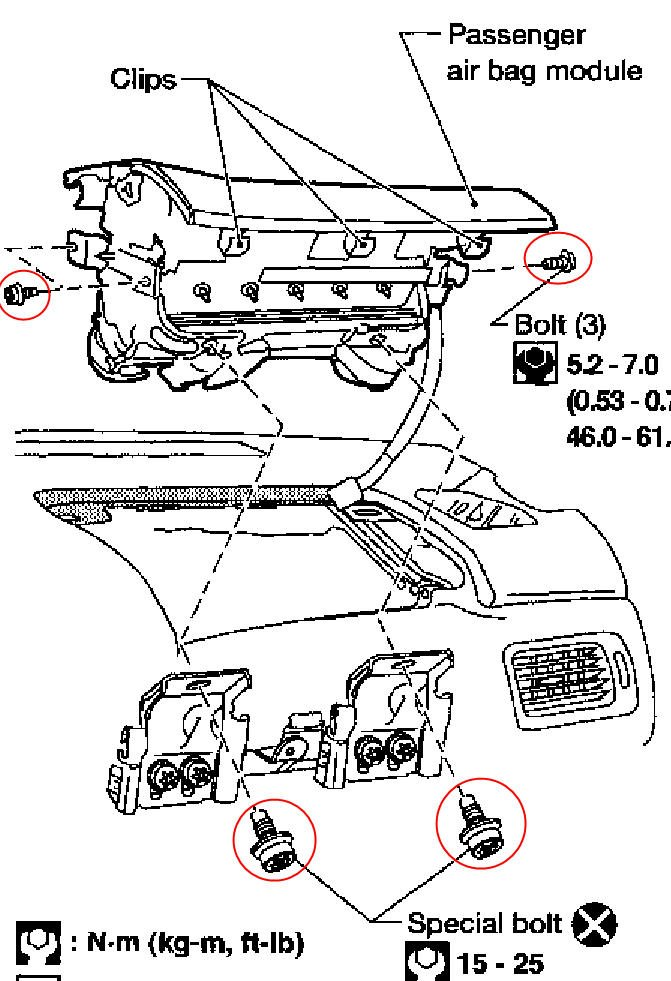 service manual  how do you change the passenger side airbag in a 1999 isuzu trooper