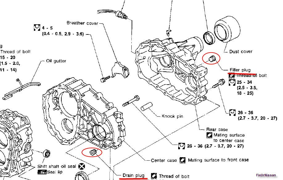 nissan murano transmission diagram