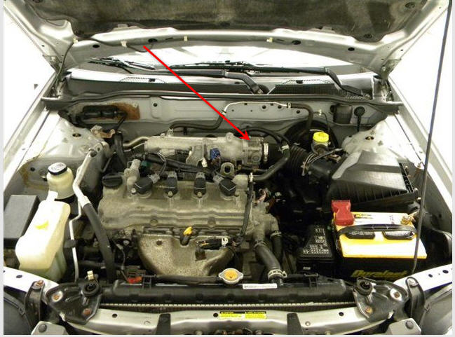 Volvo S40 Battery Location together with Mitsubishi Caterpillar Parts likewise 6 0 Powerstroke Remanufactured Engine besides 2010 Ford Transit Connect Fuel Pump Relay Location in addition Idle Valve Location. on nissan fuel pump wiring diagram