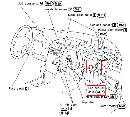 2009 Nissan Maxima Blower Motor Location on 2006 nissan pathfinder oil cooler gasket