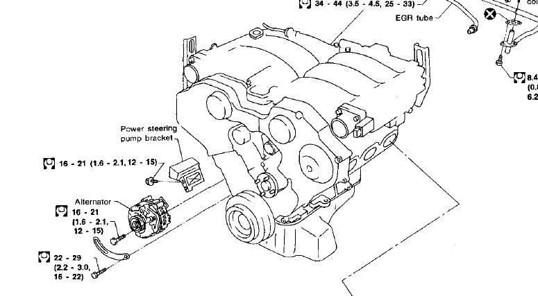 I cant find a book that helps me to change an alternator on my – Infiniti J30 Alternator Wiring Diagram