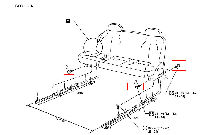 how to remove nissan quest seats