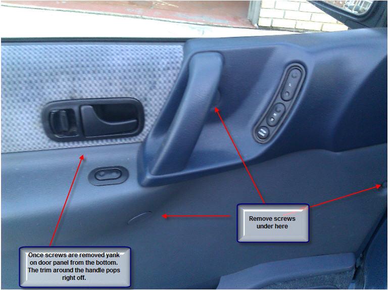 1994 Nissan Quest Door Panel Removal