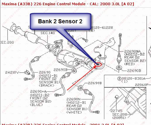 infiniti q45 o2 sensor bank 1 location  infiniti  get free