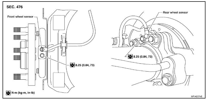service manual  how to remove sensor abs 2011 nissan leaf