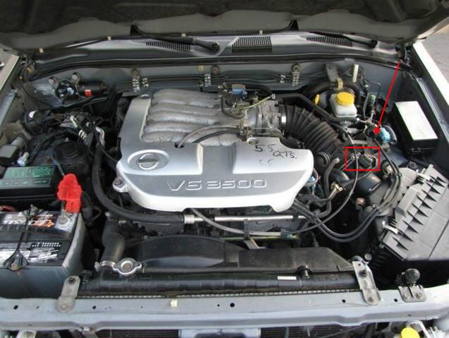 Pathfinder Maf Sensor Location on 2002 Nissan Pathfinder Fuel Filter Location
