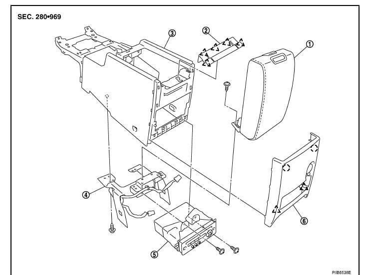 service manual  2008 infiniti g35 center console lid