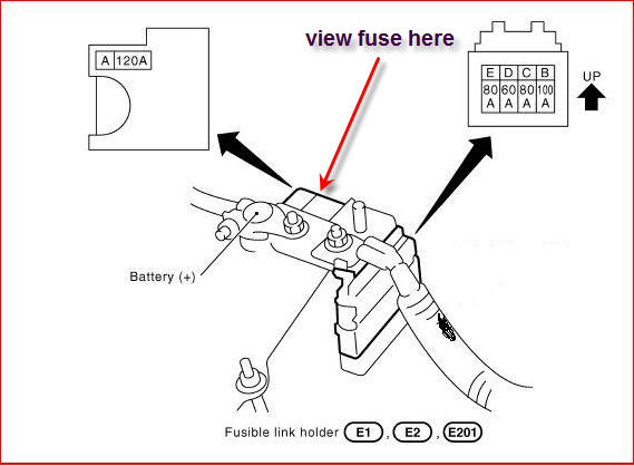 where is the main fuse for a 2004 nissan sentra and how do