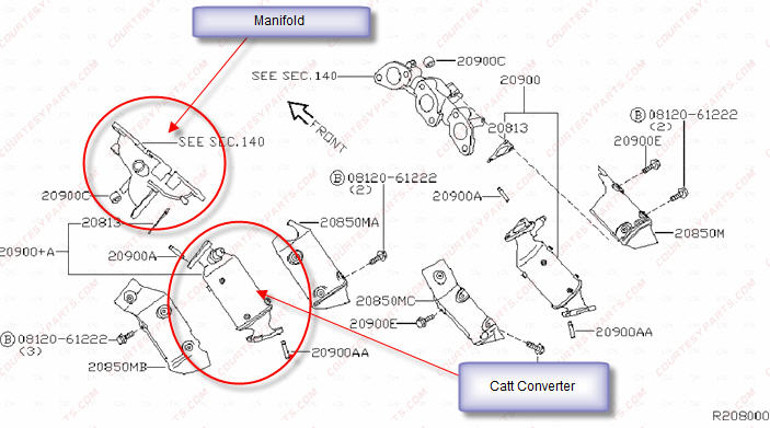 2005 Nissan Quest Catalytic Converter Replacement
